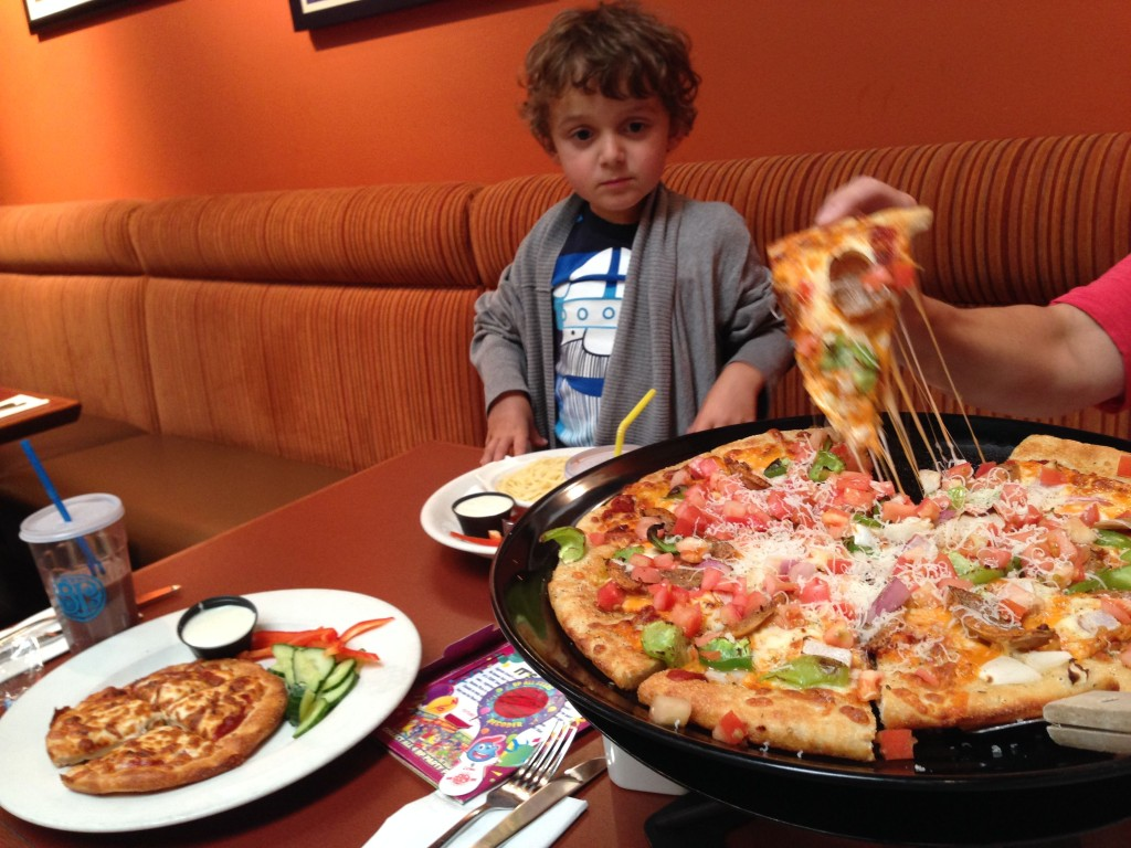 Digging in at Boston Pizza