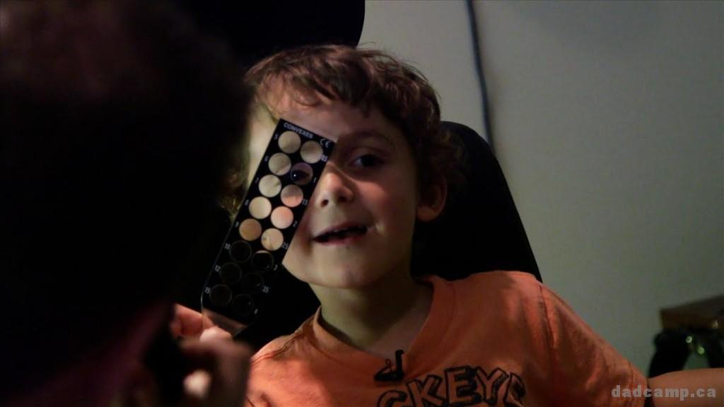 Charlie gets his eyes checked