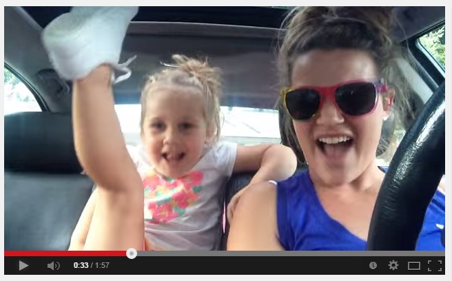 Mom Daughter Lip Synch Frozen
