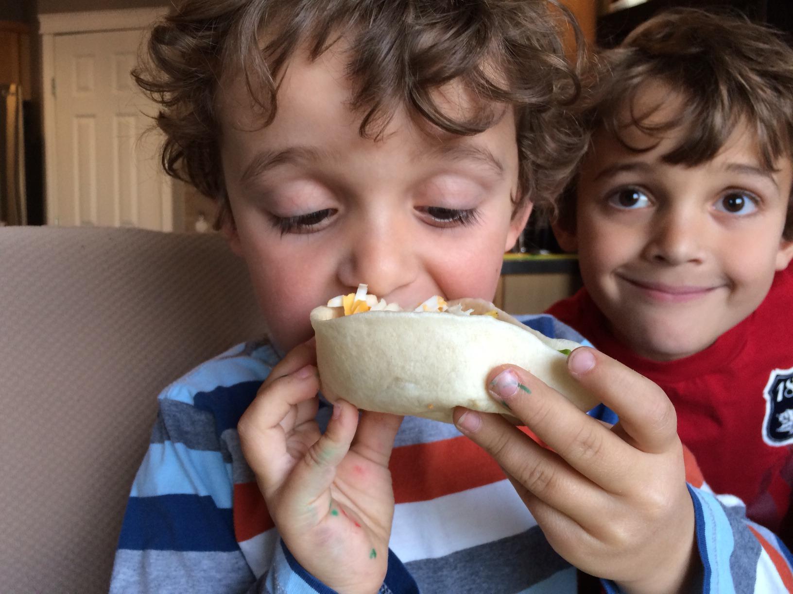 Zacharie Photo Bombing Taco Tuesday