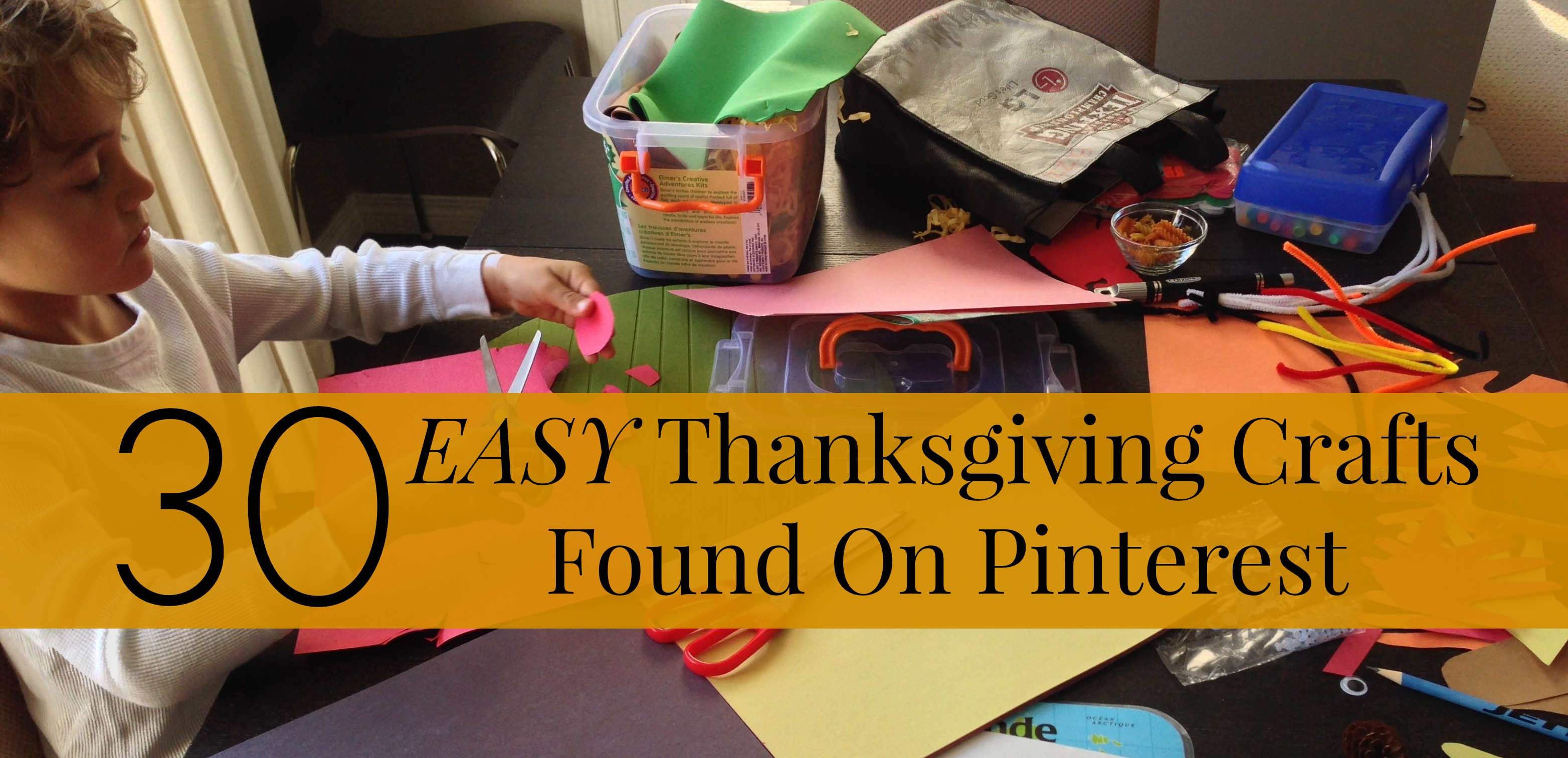 30 Thanksgiving Crafts Found on Pinterest