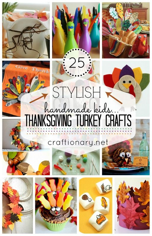 25 Thanksgiving Turkey Crafts On Pinterest