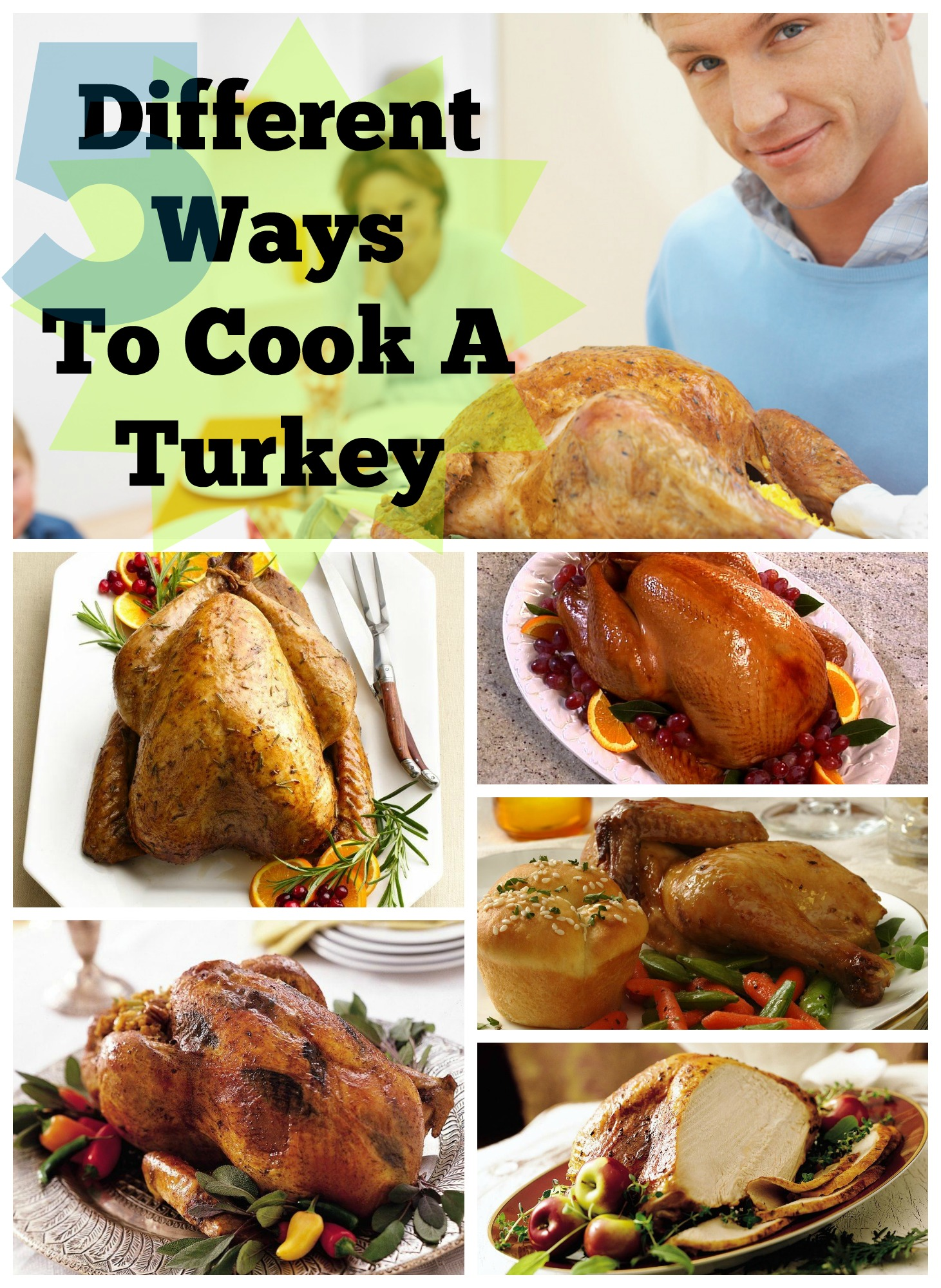 5 different ways to cook a turkey