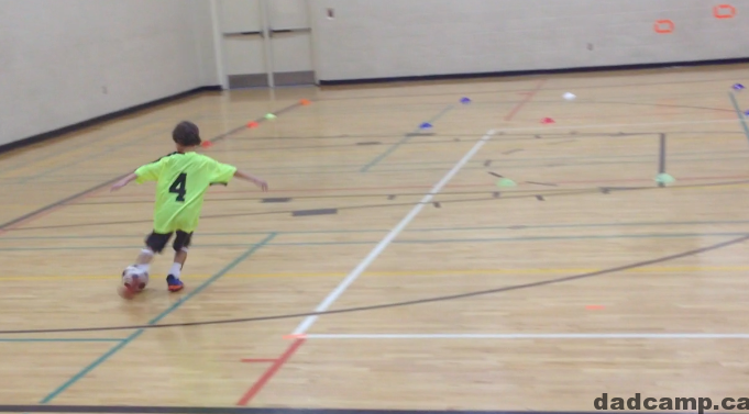 Playing Indoor Soccer