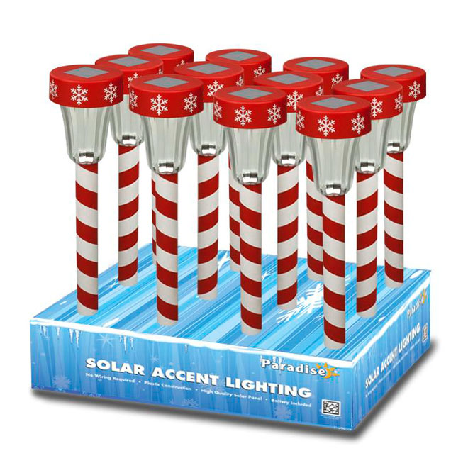 Solar Candy Cane lights