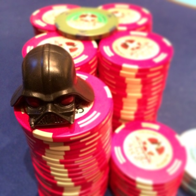 You don't know the power of a check raise. #poker #starwars #bluff #shipit