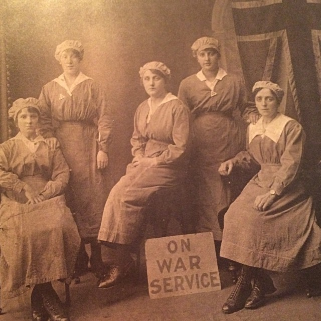 While my great grandfather was at war, my great grandmother worked in an ammunition factory. Violet Keelty is second from right. #lestweforget #remembranceday #worldwarone