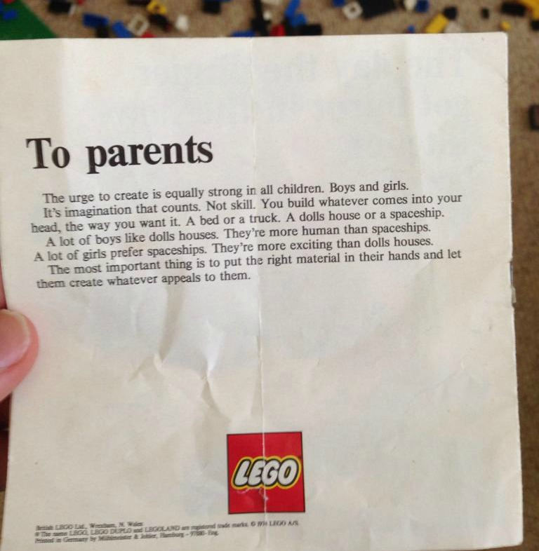LEGO instructions 1974