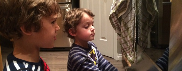 Masterchef Junior watches the oven