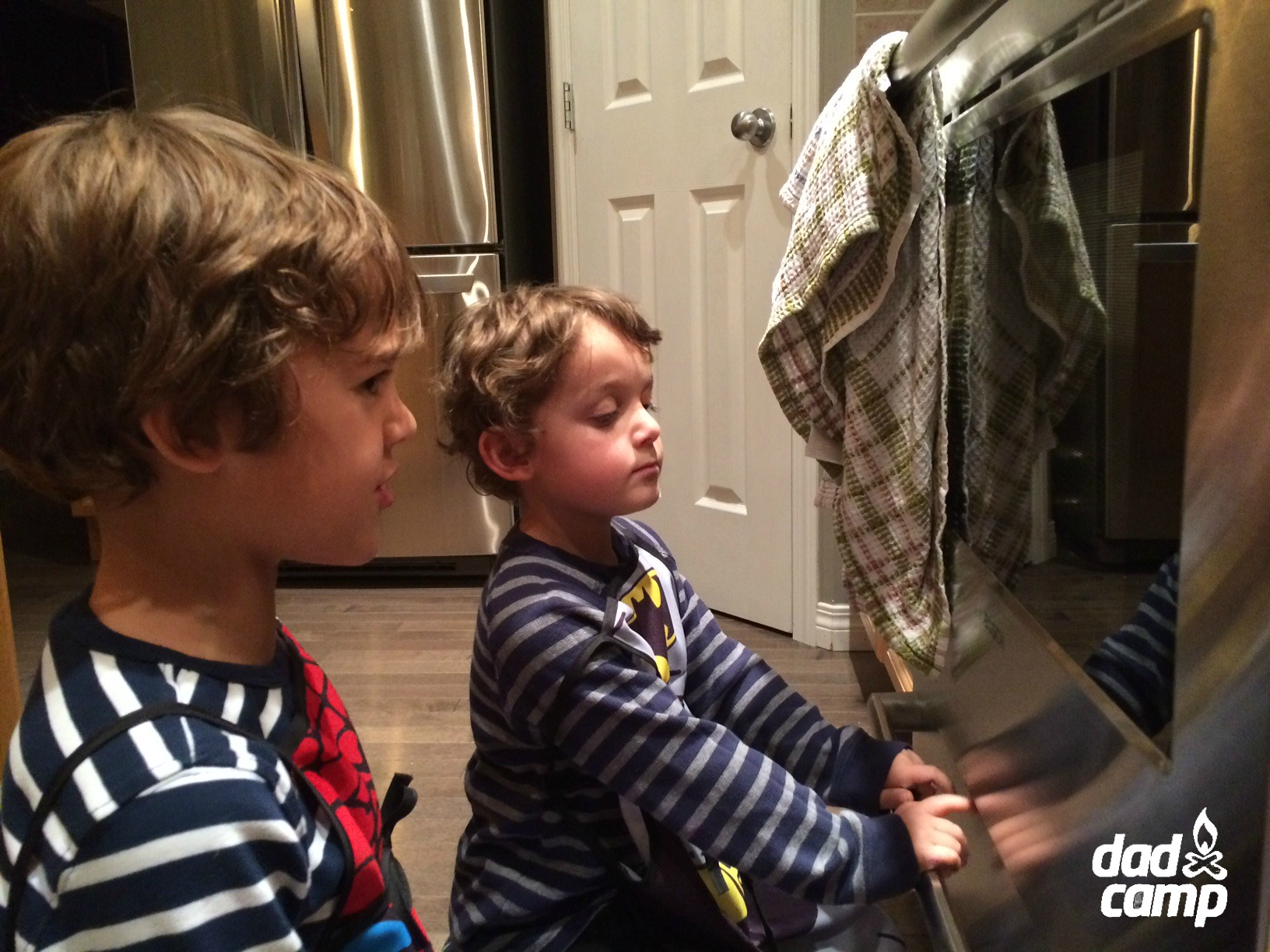 Masterchef Junior watches the oven