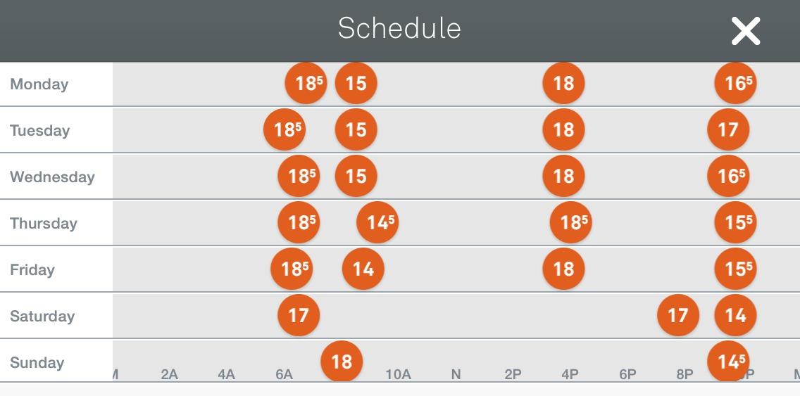 My Nest Schedule