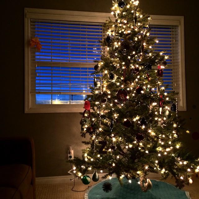 This is how we do. #christmas #christmaslights #christmastree
