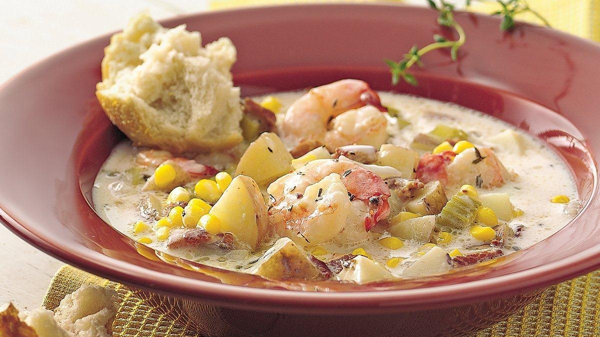 Corn and Shrimp Chowder - Life Made Delicious