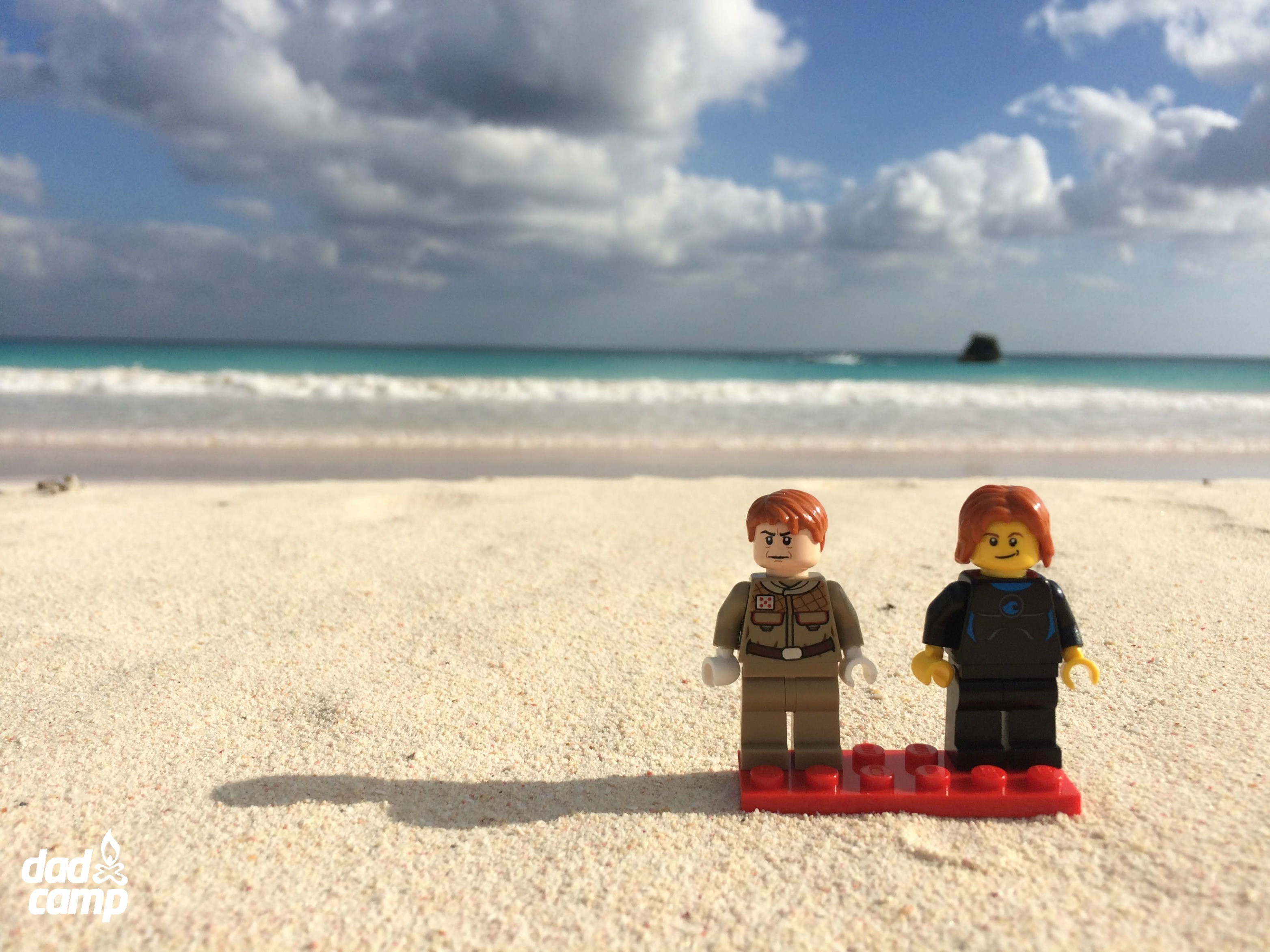 LEGO boys on the beach
