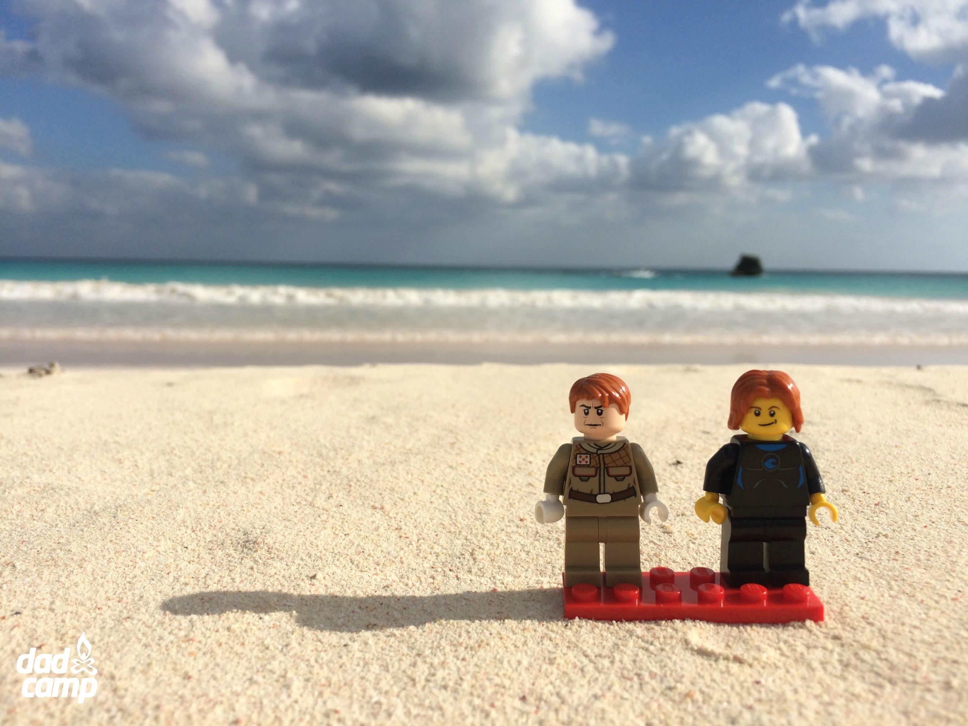 LEGO boys on the beach