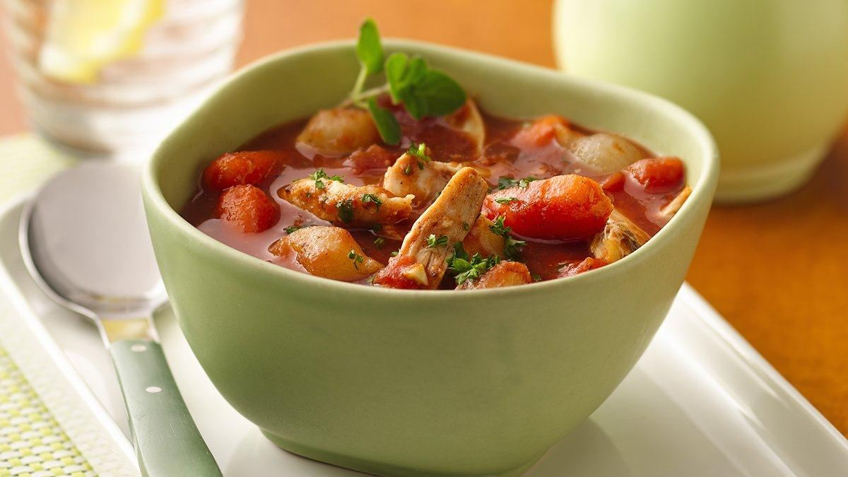 Slow Cooker Greek Minestrone - Life Made Delicious