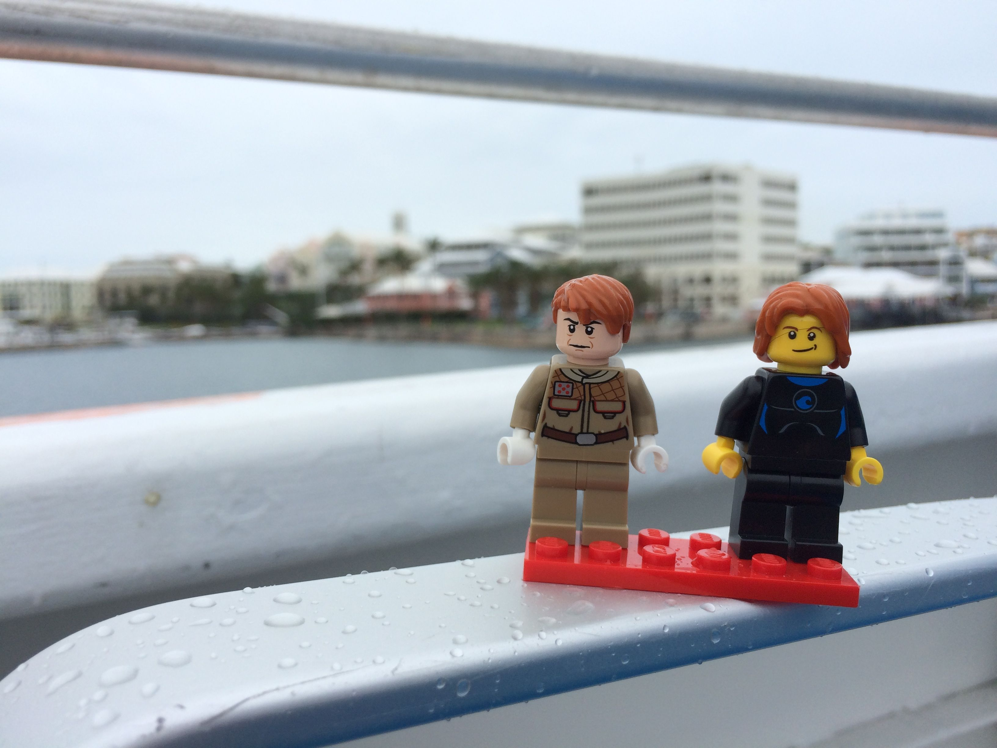 minifigs on a ferry