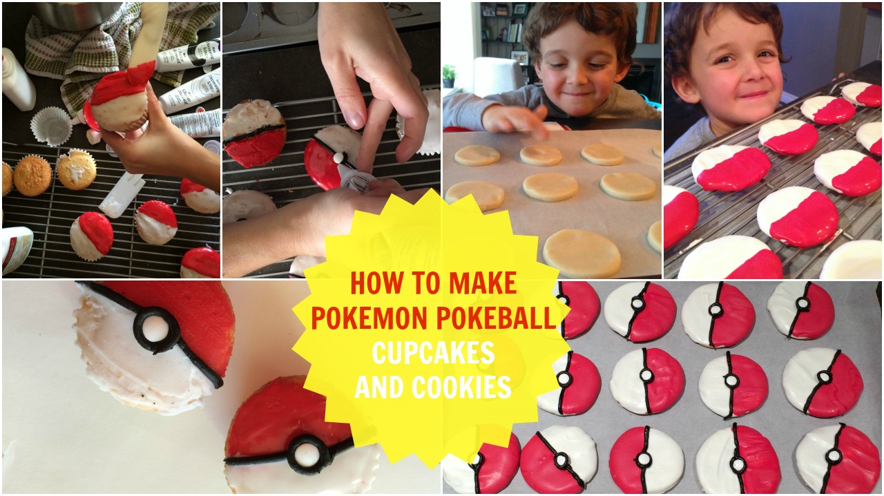 pokeball cookies and cupcakes