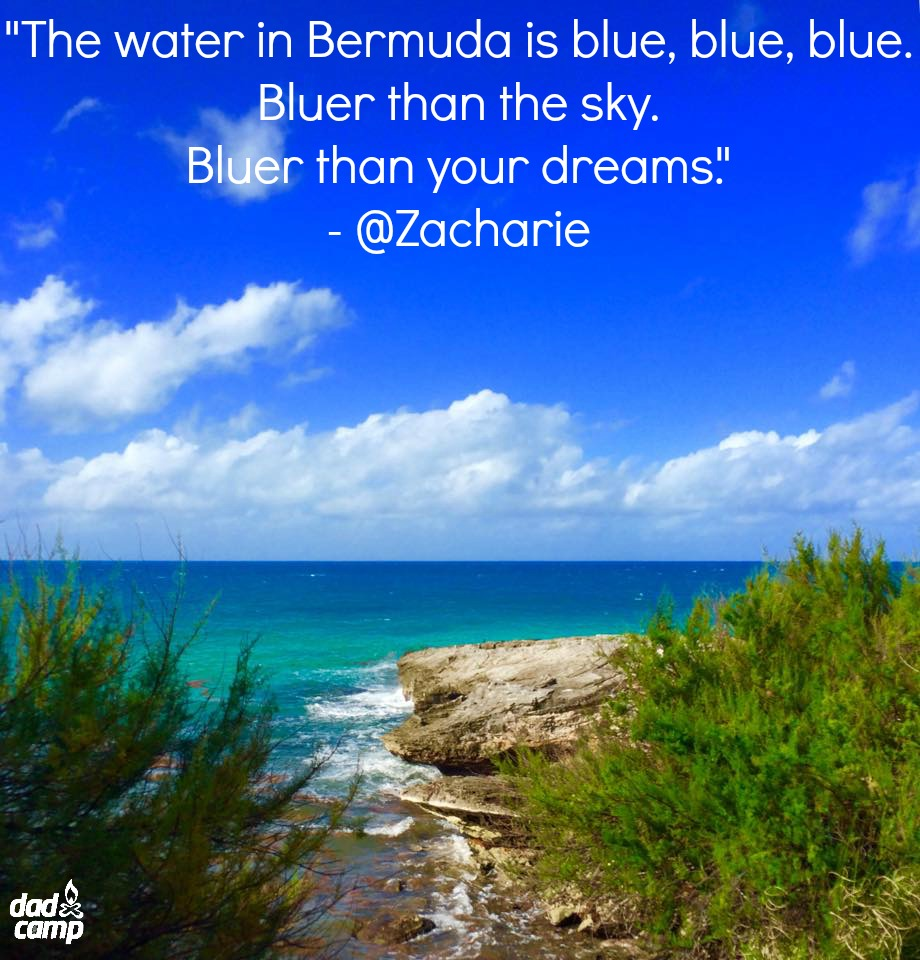 Bermuda blue water and sky