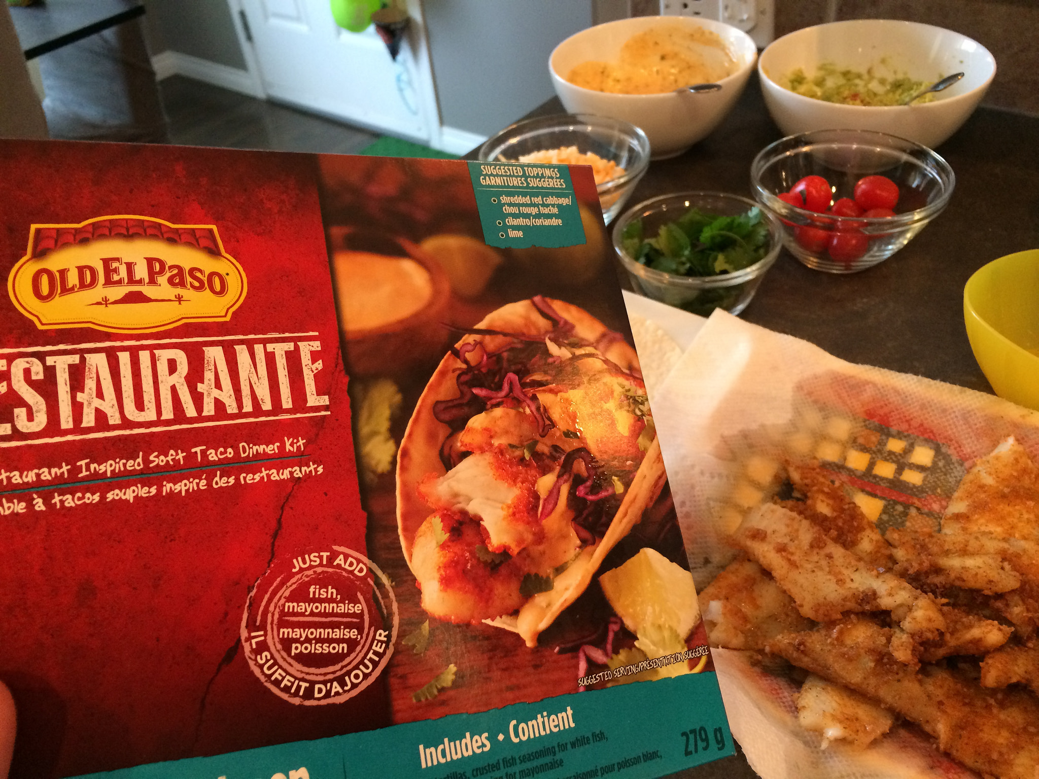 Old el Paso fish taco kit
