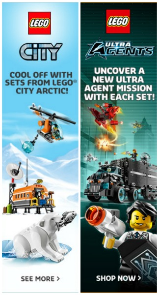 Cool off with sets from LEGO® CiTY Arctic and LEGO® Ultra Agents: Uncover a new mission with each set.