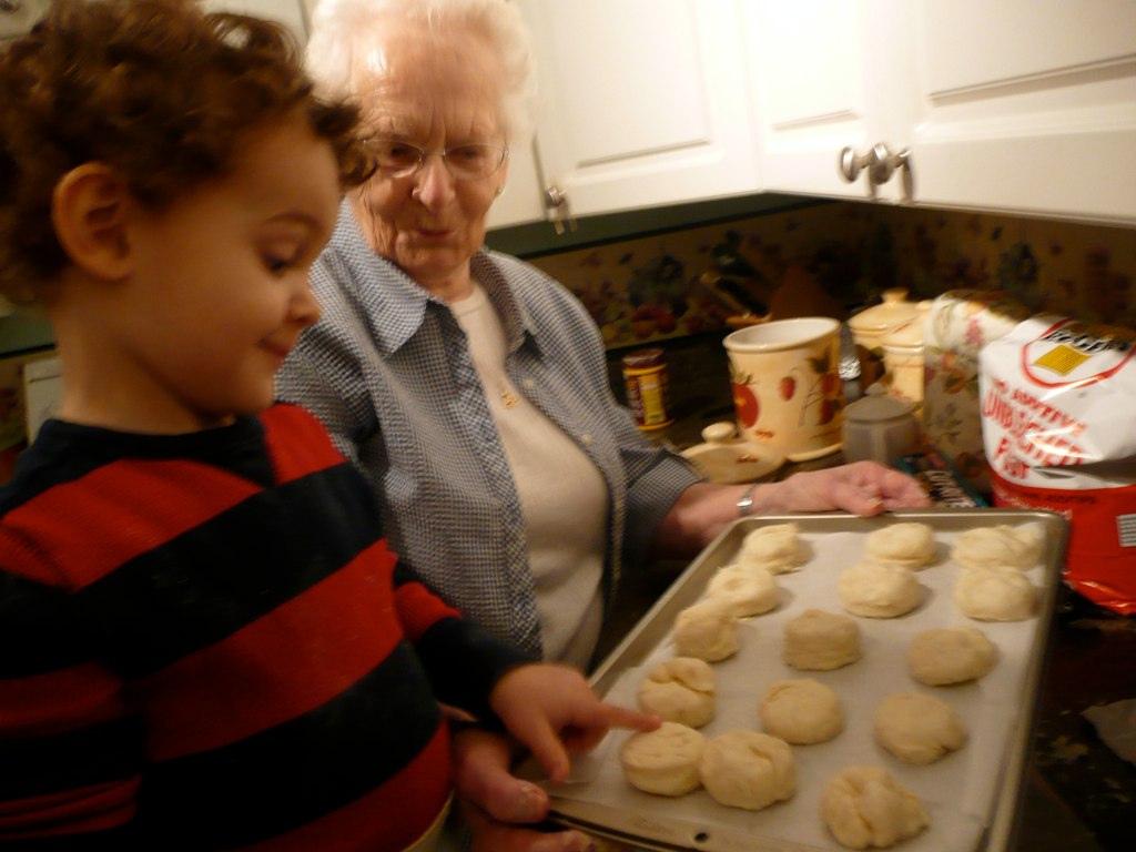 Zacharie and Nan making scones January 2010_012