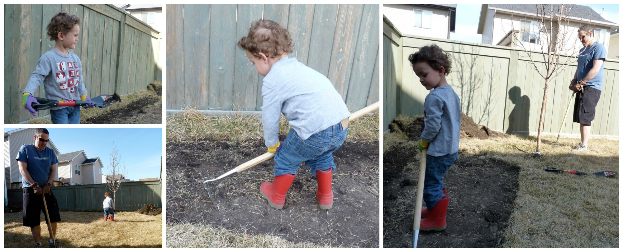 digging up the garden