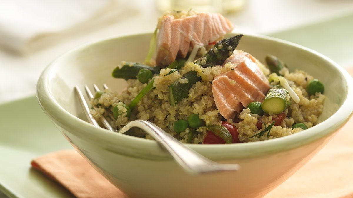 Quinoa Salmon Salad Recipe — Dishmaps