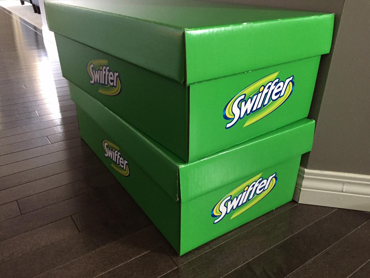 Swiffer boxes!