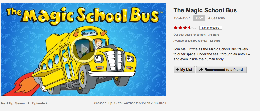 The Magic School Bus on Netflix
