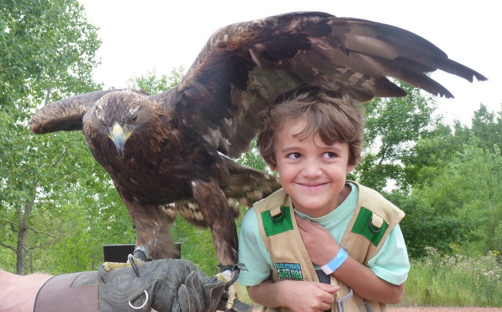 Zacharie at Birds of Prey Center