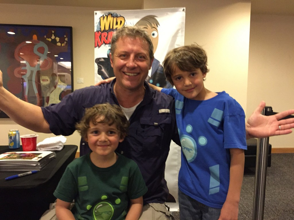 Zac harie Charlie and Martin Kratt