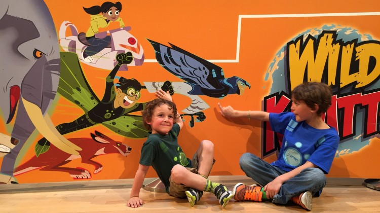 Zacharie and Charlie at Wild Kratts