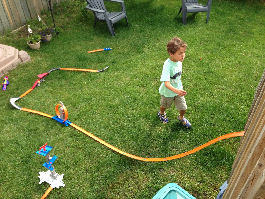 Hot Wheels In The Backyard