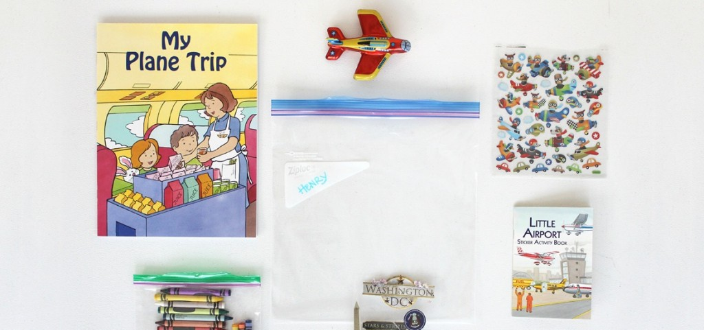 Busy bags for kids on planes. Image via Ziploc