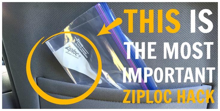 Ziploc Bags camping hack