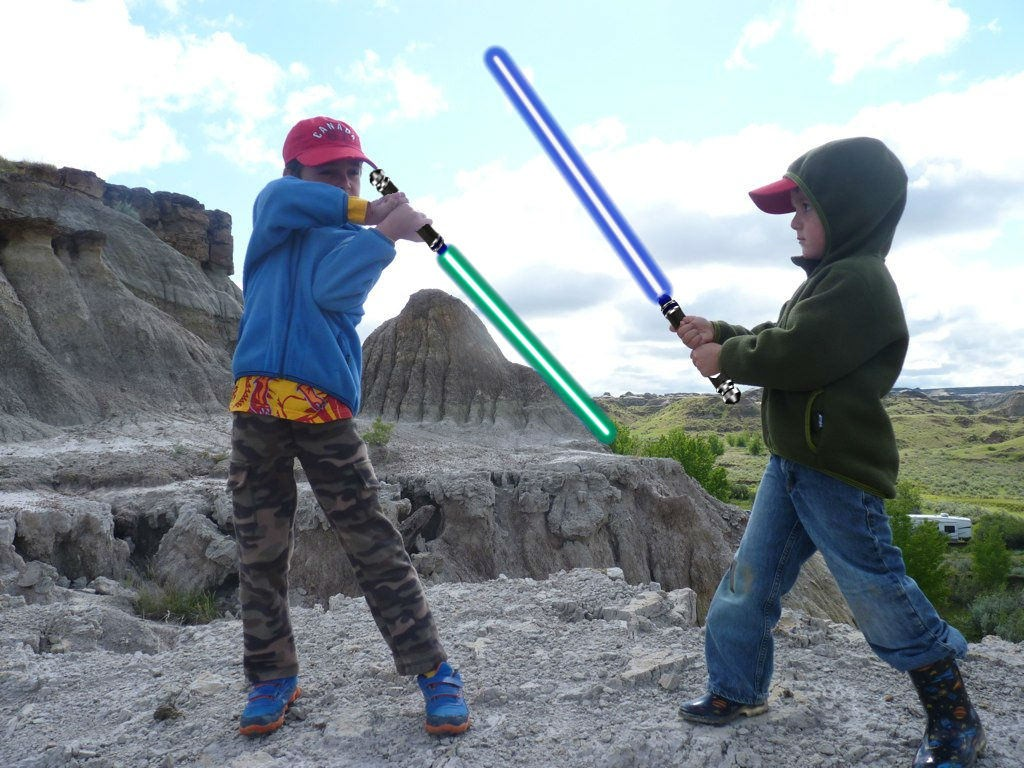 camping lightsabers