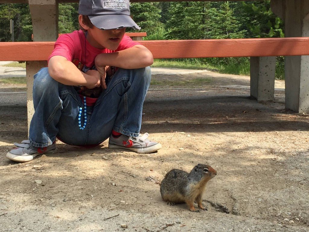 hanging with a prairie dog