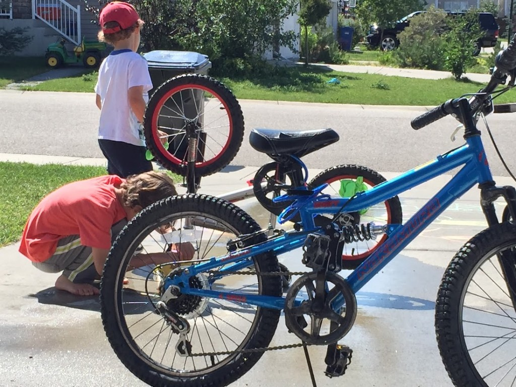 Bike Washing WIth The Boys