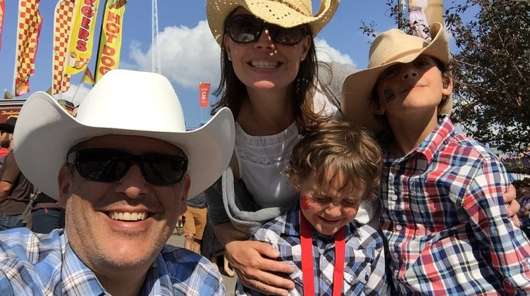 Family at the Calgary Stampede - DadCAMP