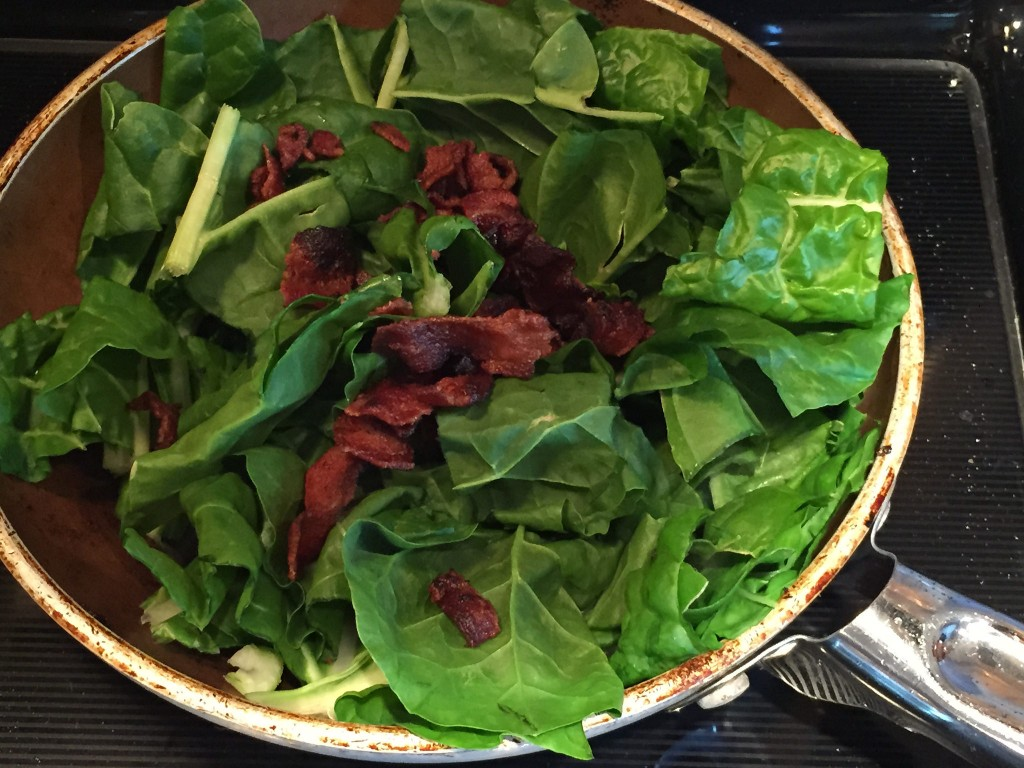 chard and bacon