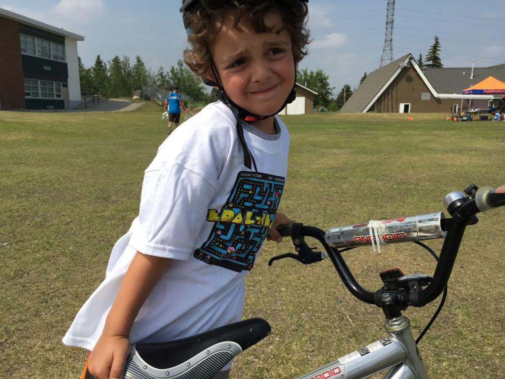 charlie rides bike