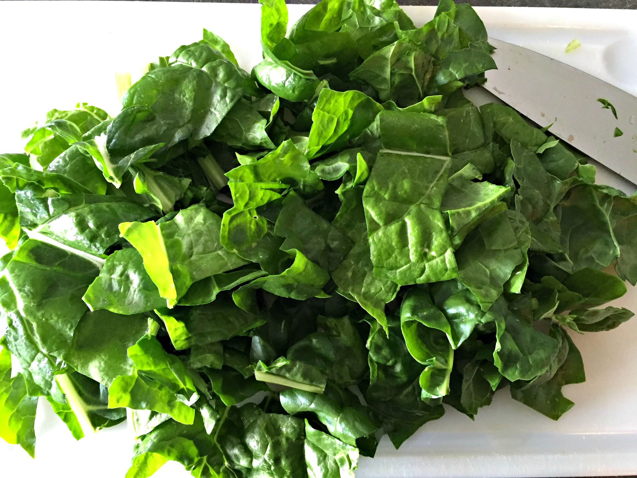 chopped up chard