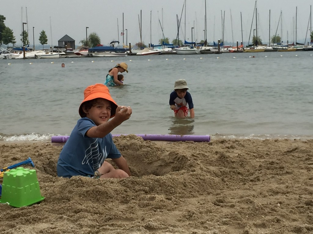 Digging Lake Pend Oreille