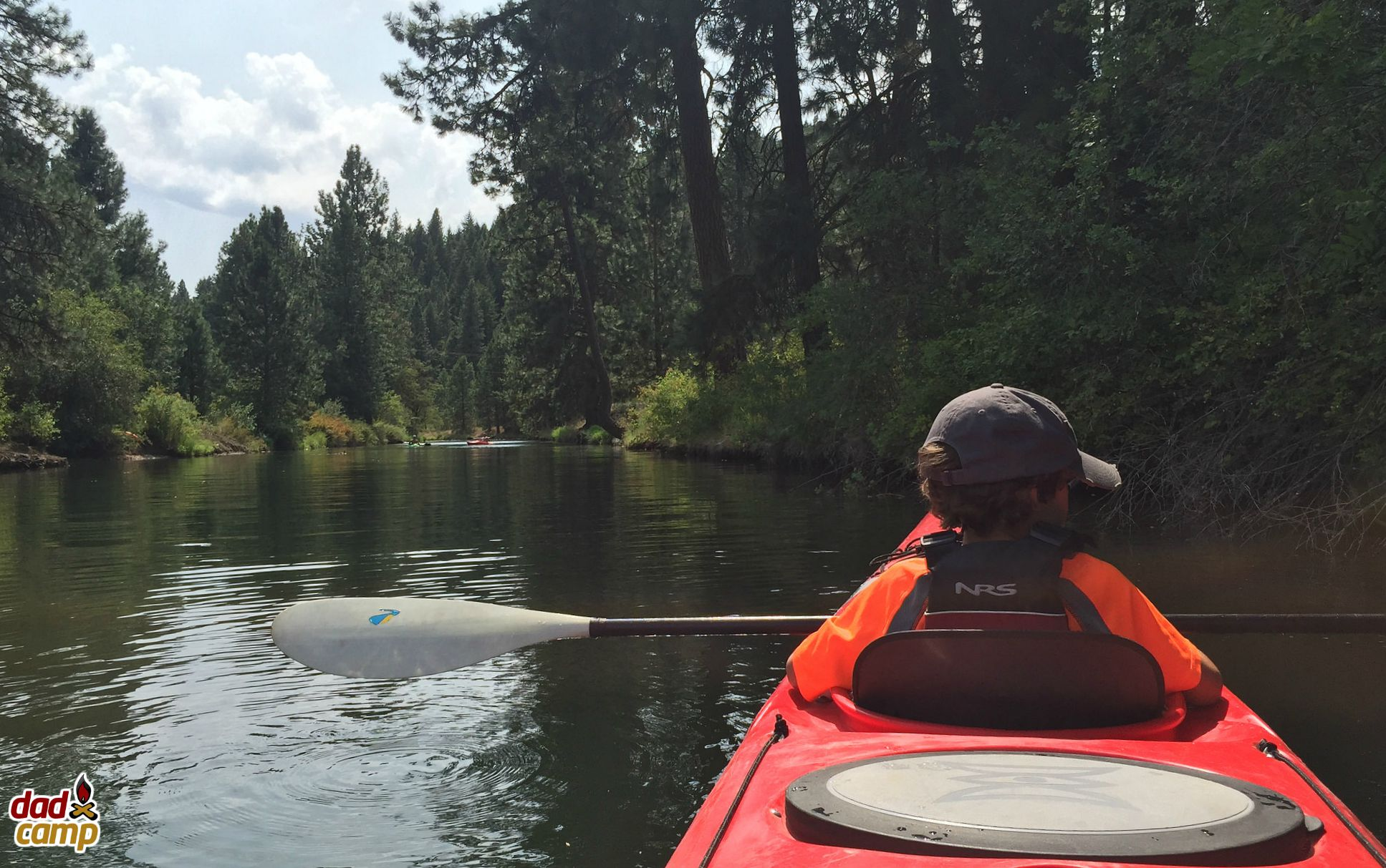 Kayaking with Zacharie at Lake Coeur D'Alene