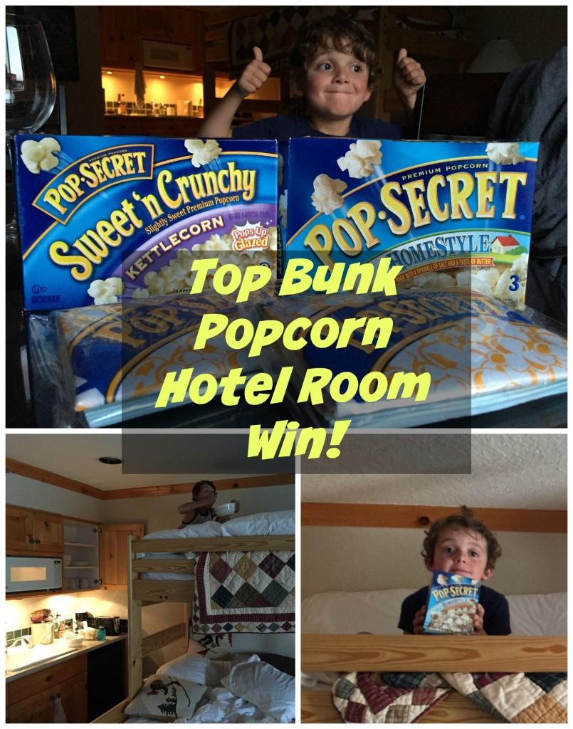 Top Bunk Popcorn Hotel Room Win!