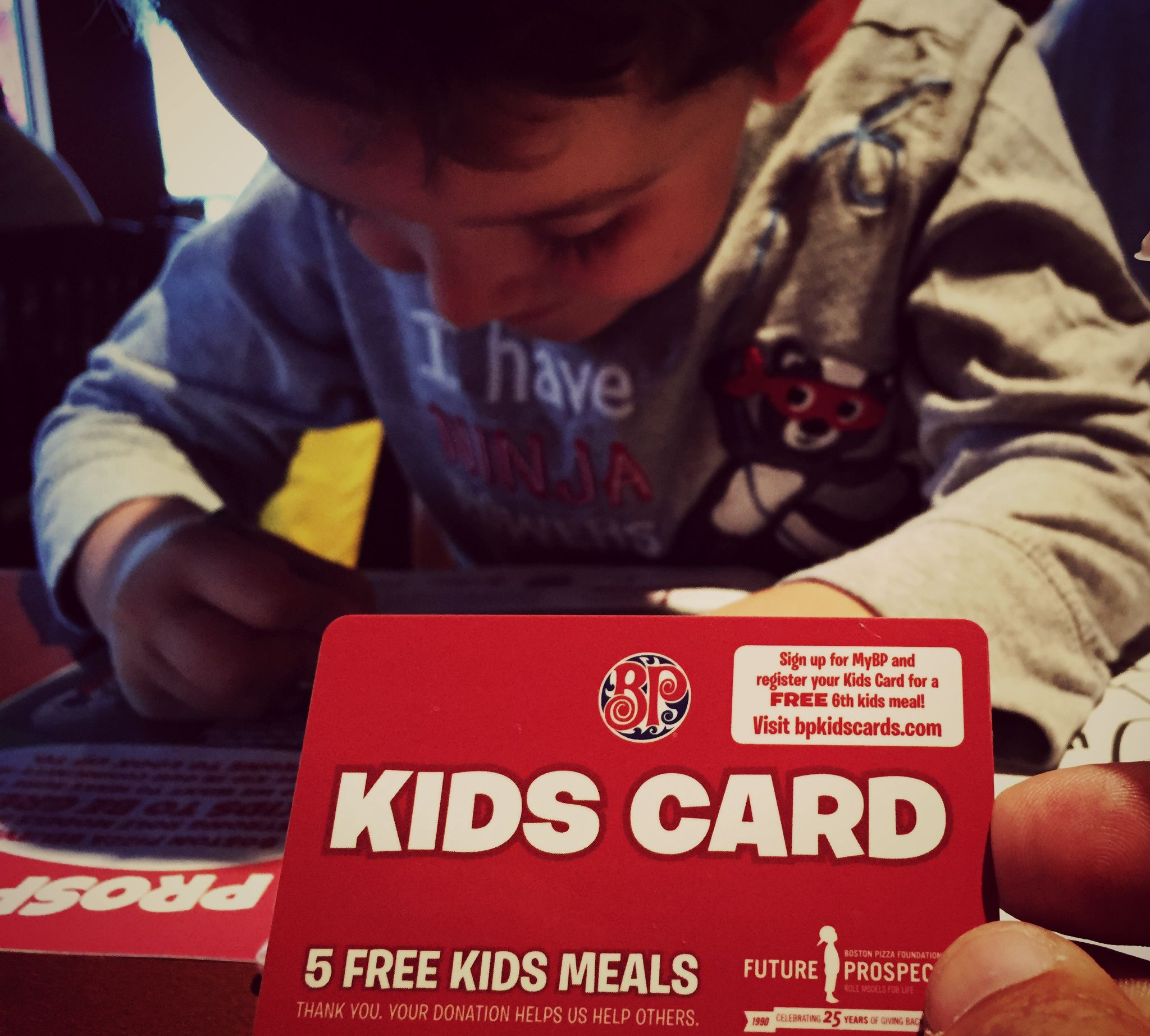 Charlie Boston Pizza Kids Card