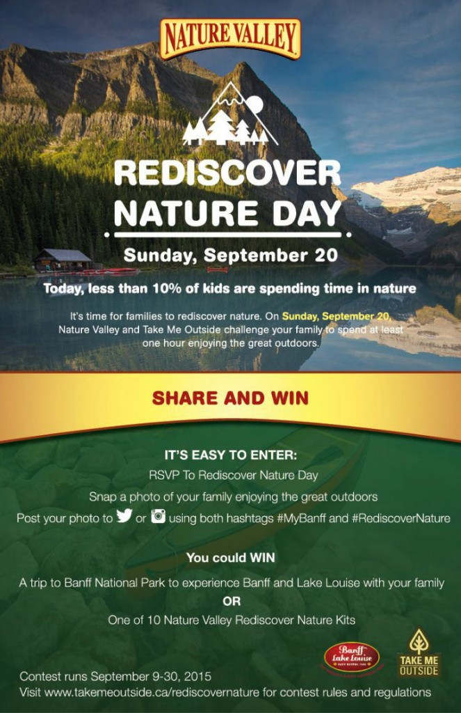 Rediscover Nature Day is September 20 #naturevalley #rediscovernature #banff