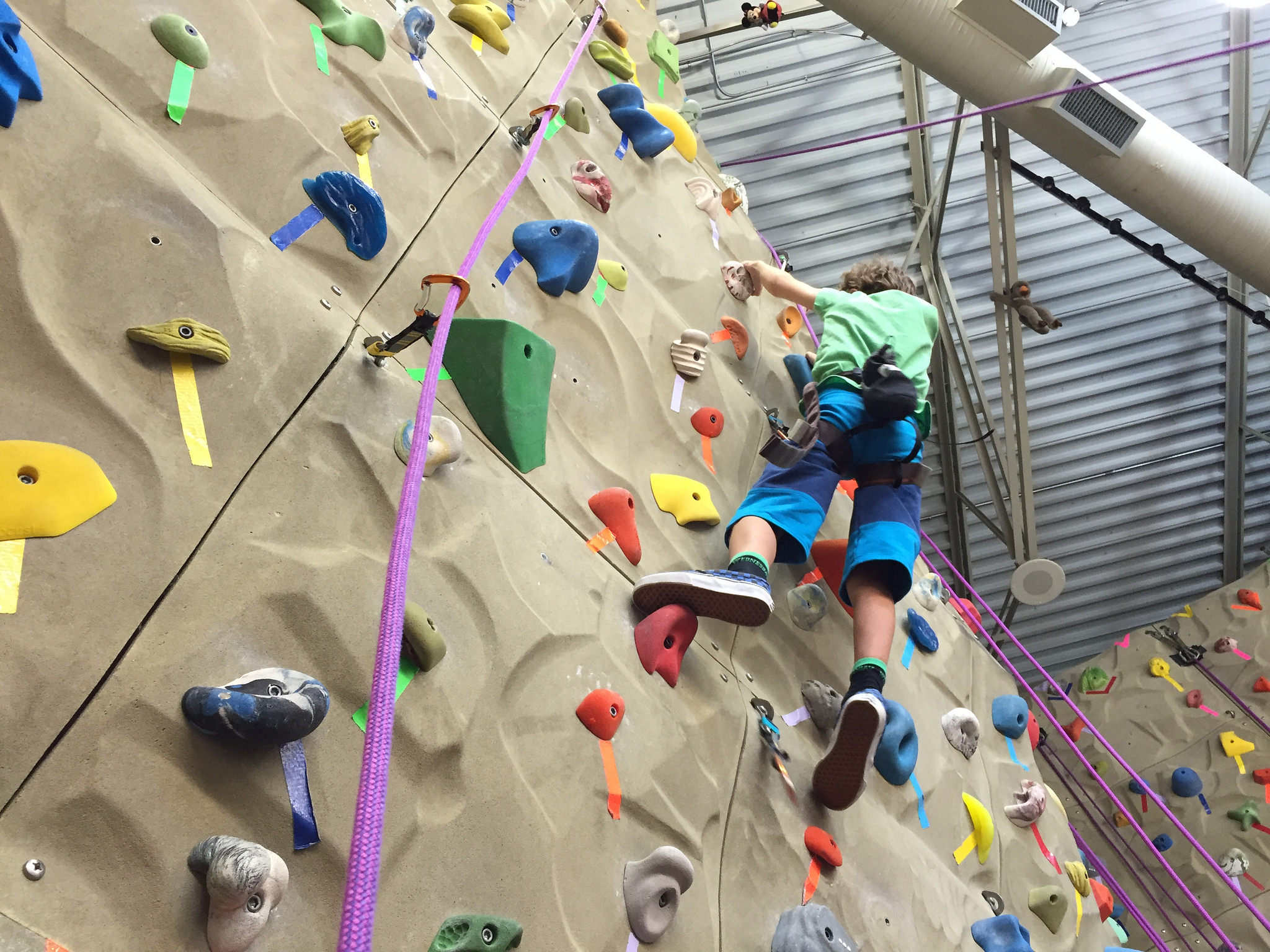 Zacharie rock climbing