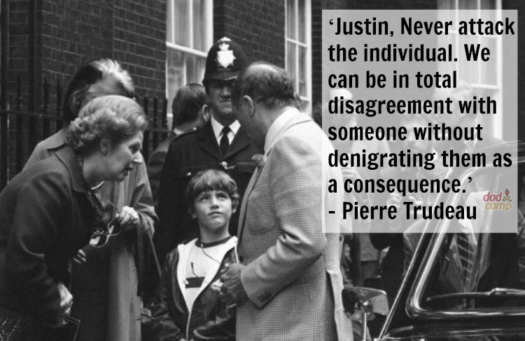 Pierre Trudeau to Justin Trudeau on handling conflict - DadCAMP